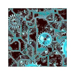 Steampunk Gears Turquoise Acrylic Tangram Puzzle (6  X 6 )