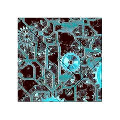 Steampunk Gears Turquoise Acrylic Tangram Puzzle (4  X 4 )