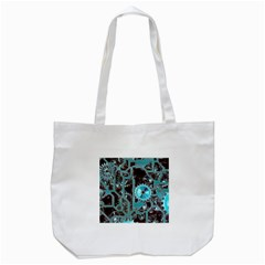 Steampunk Gears Turquoise Tote Bag (white)