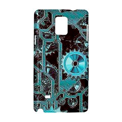 Steampunk Gears Turquoise Samsung Galaxy Note 4 Hardshell Case