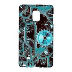 Steampunk Gears Turquoise Galaxy Note Edge