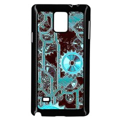 Steampunk Gears Turquoise Samsung Galaxy Note 4 Case (black)