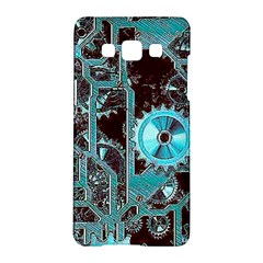 Steampunk Gears Turquoise Samsung Galaxy A5 Hardshell Case