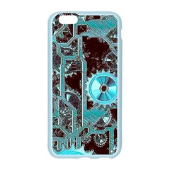 Steampunk Gears Turquoise Apple Seamless iPhone 6 Case (Color)