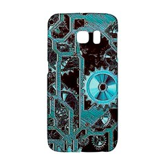 Steampunk Gears Turquoise Galaxy S6 Edge