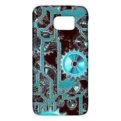 Steampunk Gears Turquoise Galaxy S6