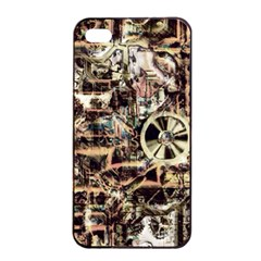 Steampunk 4 Soft Apple iPhone 4/4s Seamless Case (Black)
