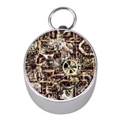 Steampunk 4 Soft Mini Silver Compasses