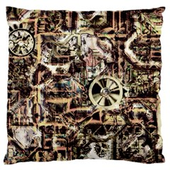 Steampunk 4 Soft Large Flano Cushion Cases (two Sides)