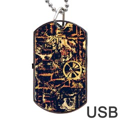 Steampunk 4 Dog Tag USB Flash (One Side)