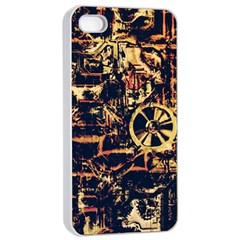 Steampunk 4 Apple iPhone 4/4s Seamless Case (White)