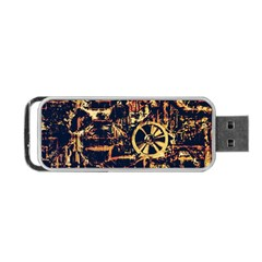 Steampunk 4 Portable Usb Flash (one Side)