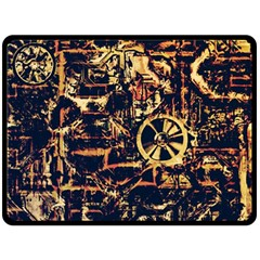 Steampunk 4 Double Sided Fleece Blanket (Large)