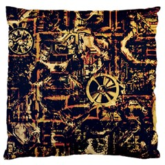 Steampunk 4 Large Flano Cushion Cases (One Side)