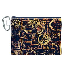 Steampunk 4 Canvas Cosmetic Bag (L)