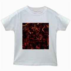 Steampunk 4 Terra Kids White T-Shirts