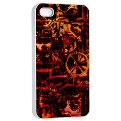 Steampunk 4 Terra Apple iPhone 4/4s Seamless Case (White)