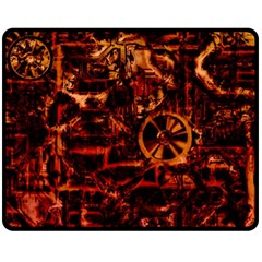 Steampunk 4 Terra Double Sided Fleece Blanket (medium)