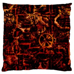 Steampunk 4 Terra Standard Flano Cushion Cases (One Side)