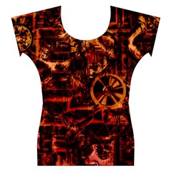 Steampunk 4 Terra Women s Cap Sleeve Top