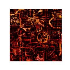 Steampunk 4 Terra Small Satin Scarf (Square)