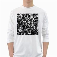Steampunk Bw White Long Sleeve T-Shirts