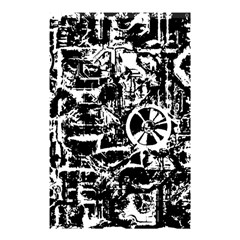 Steampunk Bw Shower Curtain 48  x 72  (Small)