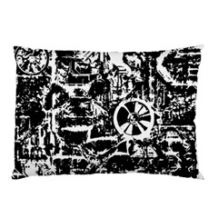 Steampunk Bw Pillow Cases (Two Sides)