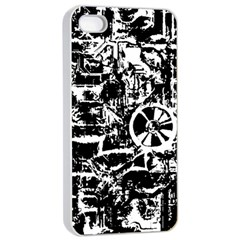 Steampunk Bw Apple iPhone 4/4s Seamless Case (White)