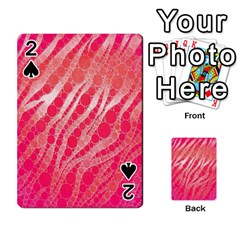 Florescent Pink Zebra Pattern  Playing Cards 54 Designs