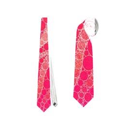 Florescent Pink Zebra Pattern  Neckties (two Side)