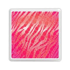 Florescent Pink Zebra Pattern  Memory Card Reader (square)