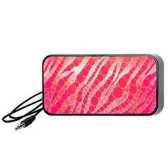 Florescent Pink Zebra Pattern  Portable Speaker (black)