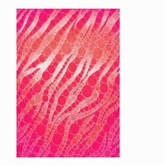 Florescent Pink Zebra Pattern  Small Garden Flag (Two Sides)
