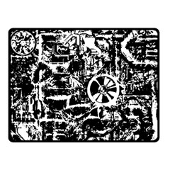 Steampunk Bw Double Sided Fleece Blanket (Small)