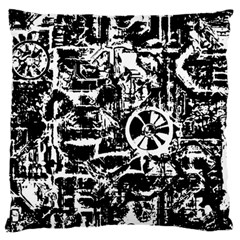 Steampunk Bw Large Flano Cushion Cases (two Sides)
