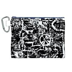 Steampunk Bw Canvas Cosmetic Bag (XL)