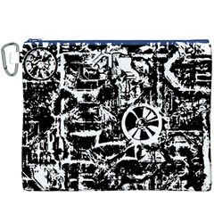 Steampunk Bw Canvas Cosmetic Bag (XXXL)