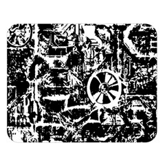 Steampunk Bw Double Sided Flano Blanket (large)