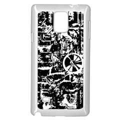 Steampunk Bw Samsung Galaxy Note 4 Case (white)