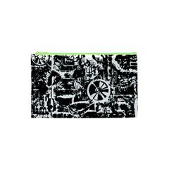 Steampunk Bw Cosmetic Bag (xs)