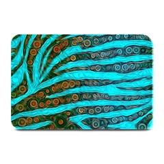 Turquoise Blue Zebra Abstract  Plate Mats