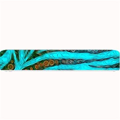 Turquoise Blue Zebra Abstract  Small Bar Mats