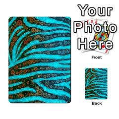 Turquoise Blue Zebra Abstract  Multi-purpose Cards (Rectangle)