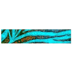 Turquoise Blue Zebra Abstract  Flano Scarf (small)