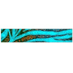 Turquoise Blue Zebra Abstract  Flano Scarf (Large)
