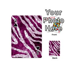 Purple Zebra Print Bling Pattern  Playing Cards 54 (Mini)