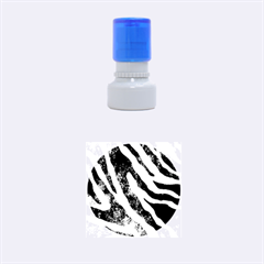 Purple Zebra Print Bling Pattern  Rubber Round Stamps (small)