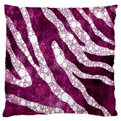 Purple Zebra Print Bling Pattern  Large Flano Cushion Cases (two Sides)
