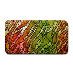 Orange Green Zebra Bling Pattern  Medium Bar Mats